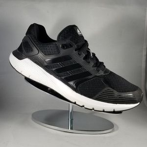 Adidas Black and White BB4655 Athletic Shoes-9.5